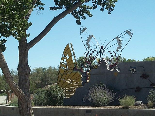Butterfly sculpture Botanical gardens grand junction colorado
