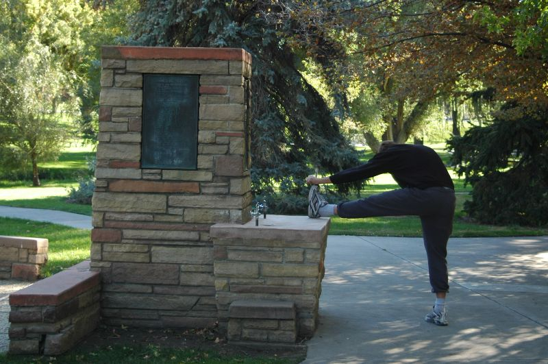 Jogger at the Fountain